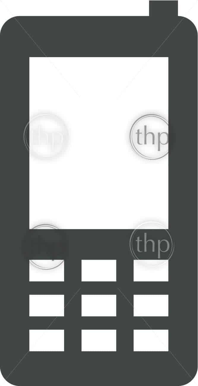 667x1300 Simple Cell Phone Or Mobile Phone Vector Photo