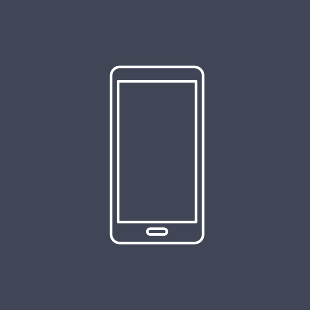 626x626 Vector Of Mobile Phone Icon Vector Free Download