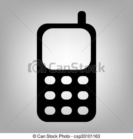 450x470 Cell Phone Icon. Cell Phone. Flat Style Icon. Vector Illustration .