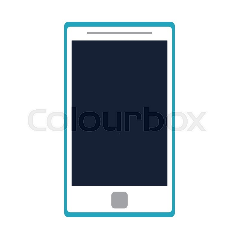 800x800 Flat Design Modern Cellphone Icon Vector Illustration Stock