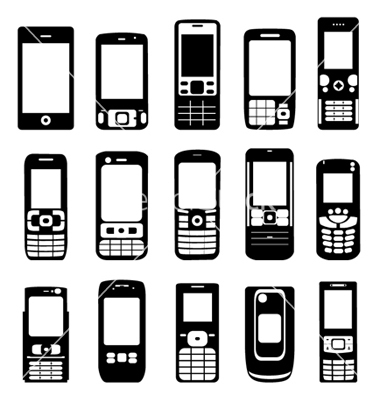Cell Phone Vector Free