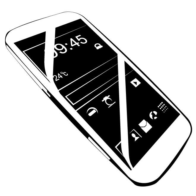 660x660 Android Mobile Phone Vector