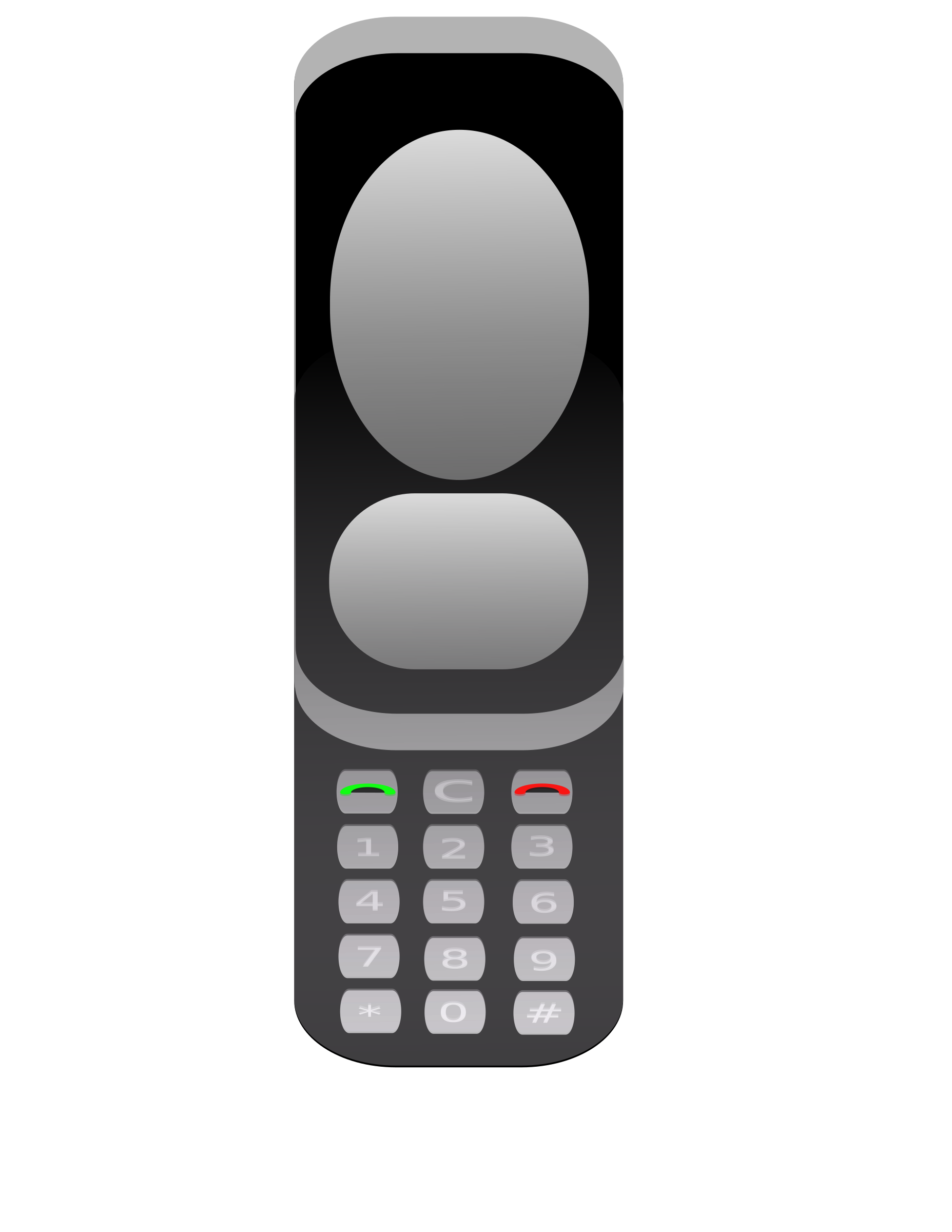 1855x2400 Old Cellphone Vector Clipart Graphic Image