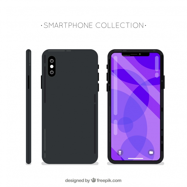 626x626 Side, Front And Back Of Mobile Phone Vector Free Download
