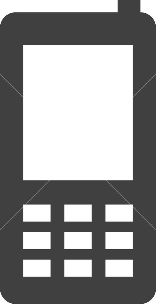 513x1000 Simple Cell Phone Or Mobile Phone Vector Icon Royalty Free Stock