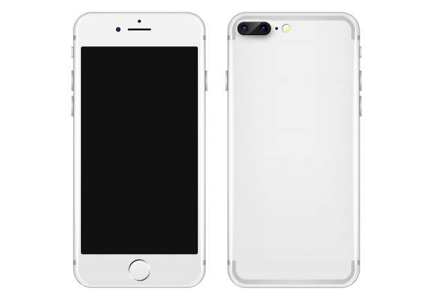 626x442 White Mobile Phone Vector Template Vector Free Download