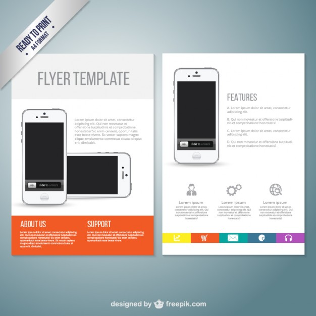 626x626 Cell Phone Repair Flyer Template Flyer Template With Mobile Phone