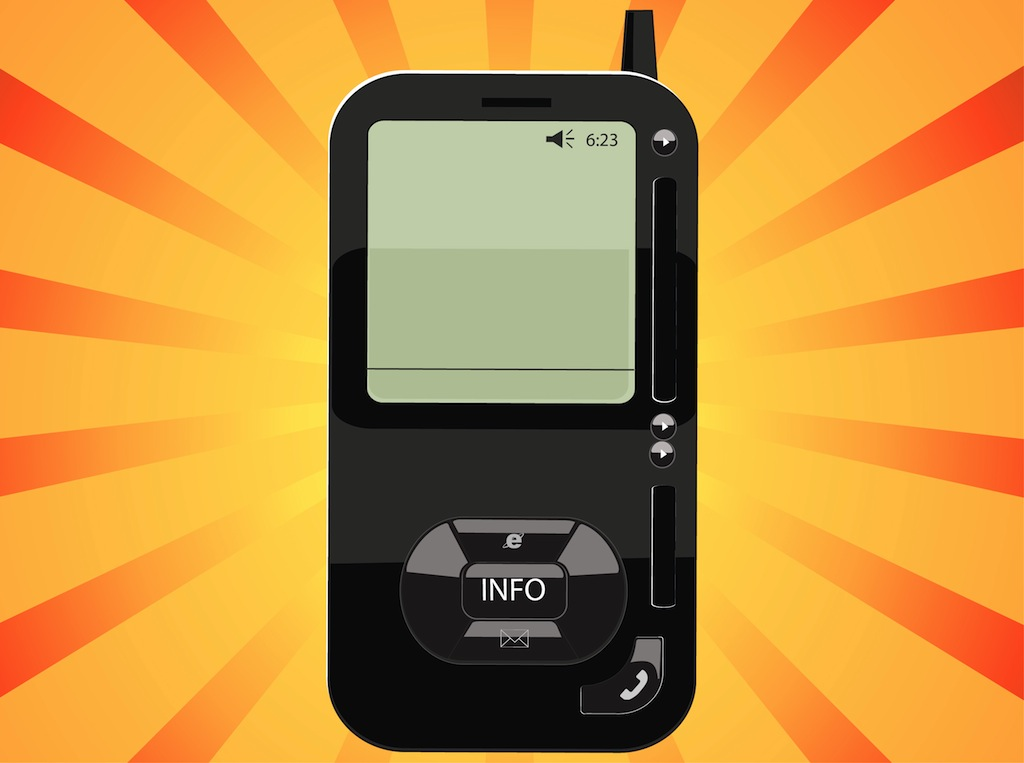 1024x763 Black Phone Vector Free Vectors Ui Download