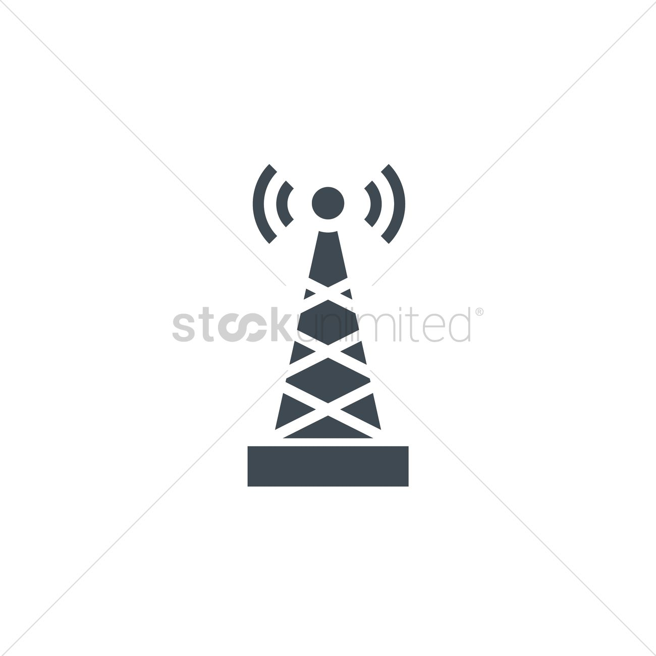 1300x1300 Cell Tower Vector Image