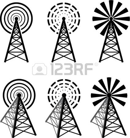 423x450 Cell Tower Clipart