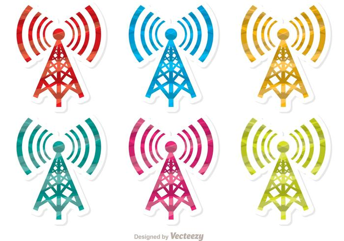 700x490 Colorful Cell Tower Vector Pack