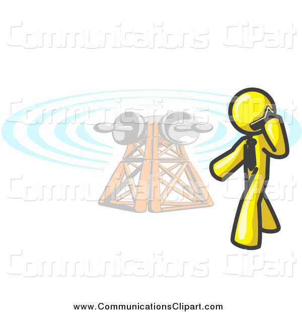 600x620 Communication Clipart Cell Tower
