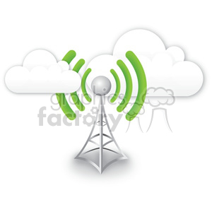 300x300 Royalty Free Cell Tower A Good Signal 383965 Vector Clip Art Image