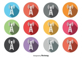 285x200 Cell Phone Tower Icon Free Vector Graphic Art Free Download (Found
