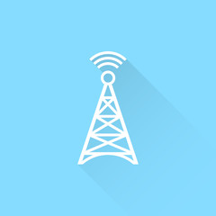 240x240 Cell Phone Tower Vector Icon.
