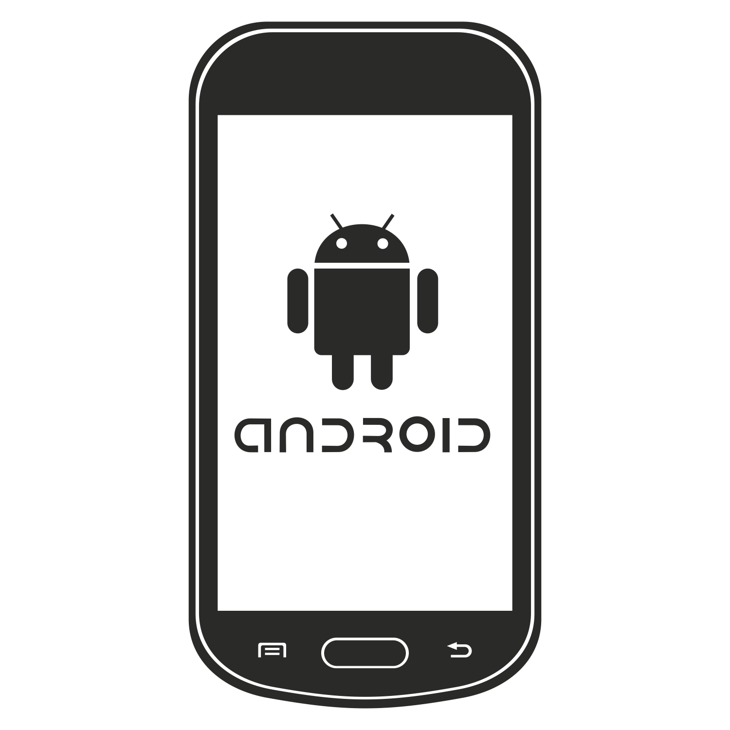 1500x1500 Vector For Free Use Phone With Android Logo