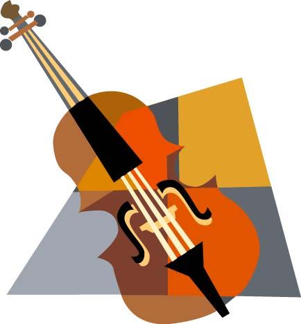 434x468 Cello Vector Clipart