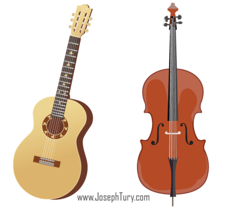 456x418 Free Free Acoustic Guitar Amp Cello Vectors Clipart And Vector