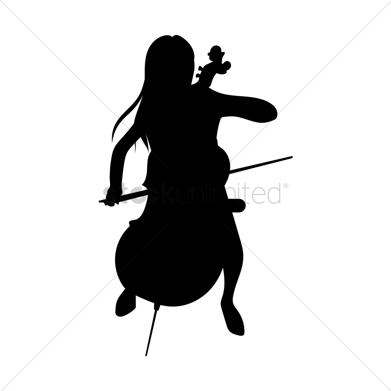 1300x1300 Woman Playing Cello Vector Image