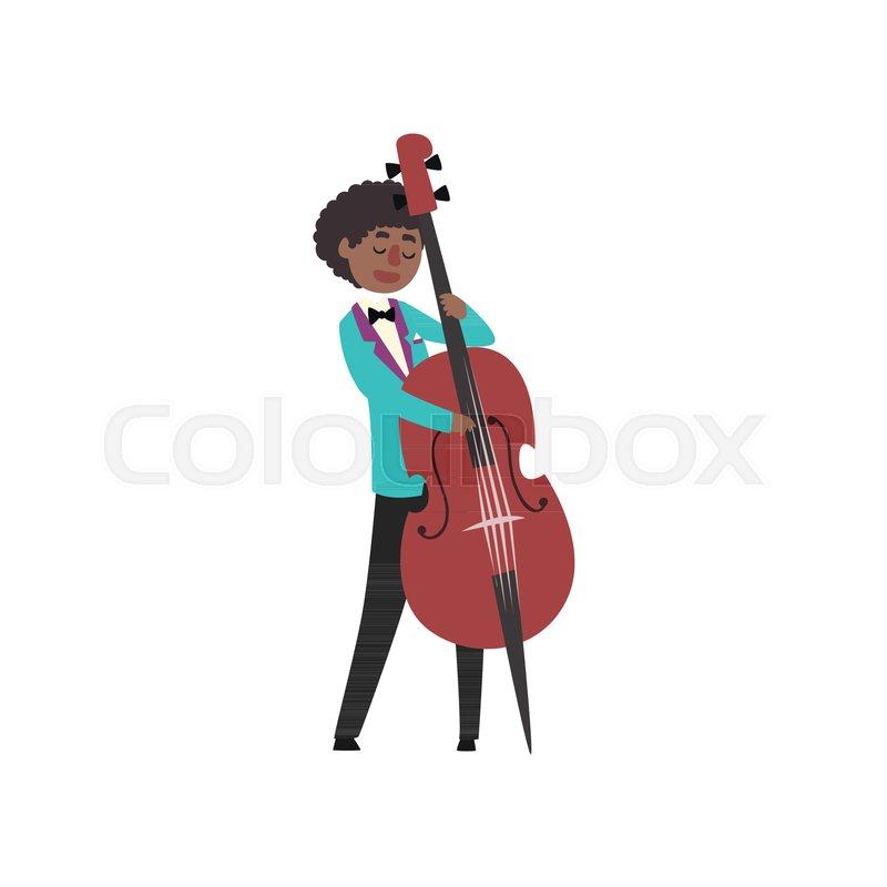800x800 African American Jazz Musician Wearing Retro Elegant Suit Playing