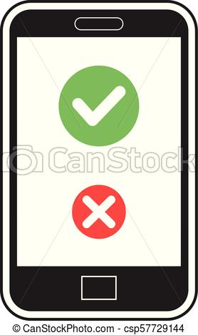 278x470 Asnwer Call Icon On Cellphone Vector. Vector Illustration Of An