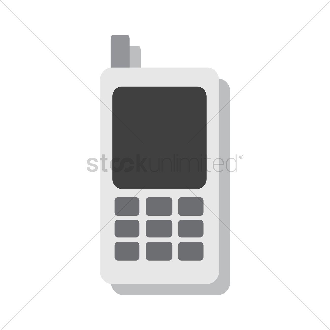 1300x1300 Free Retro Cellphone Vector Image