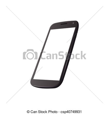 450x470 Isolated Cellphone On A White Background, Vector Illustration.