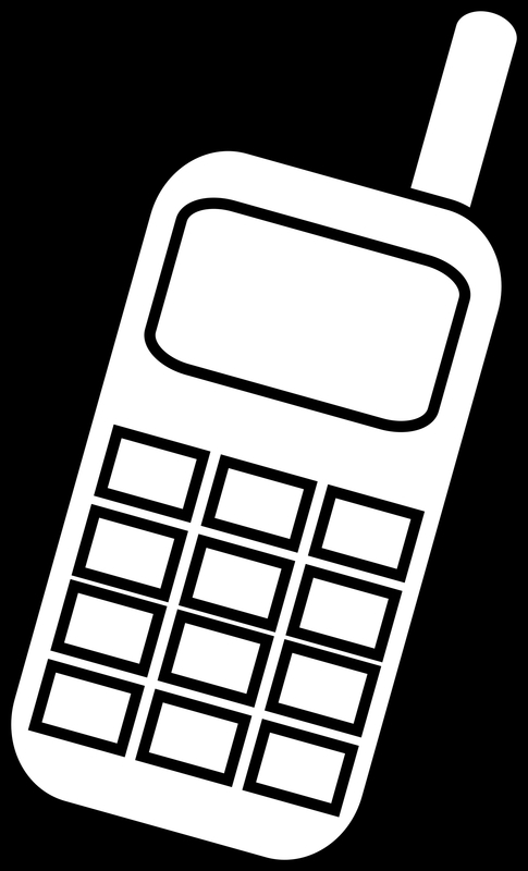 485x800 Mobile Cellphone Vector Clipart Image