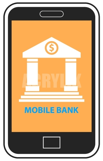 346x540 Mobile Banking On Cellphone Vector Icon