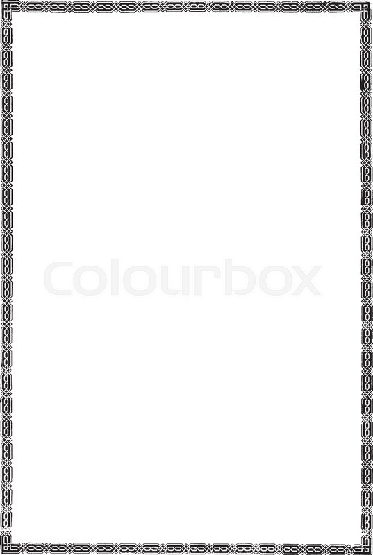 537x800 Celtic Border Is A Narrow Border With Celtic Influences, Vintage