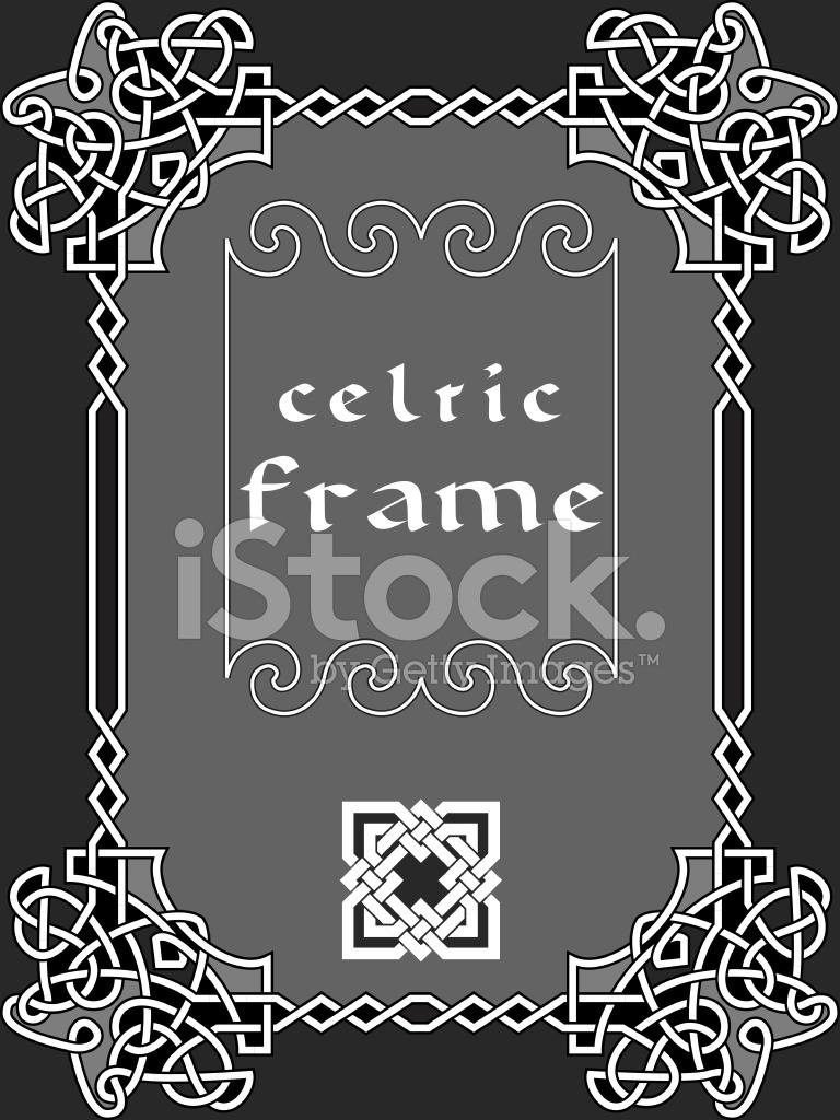 768x1024 Celtic Frame Stock Vector