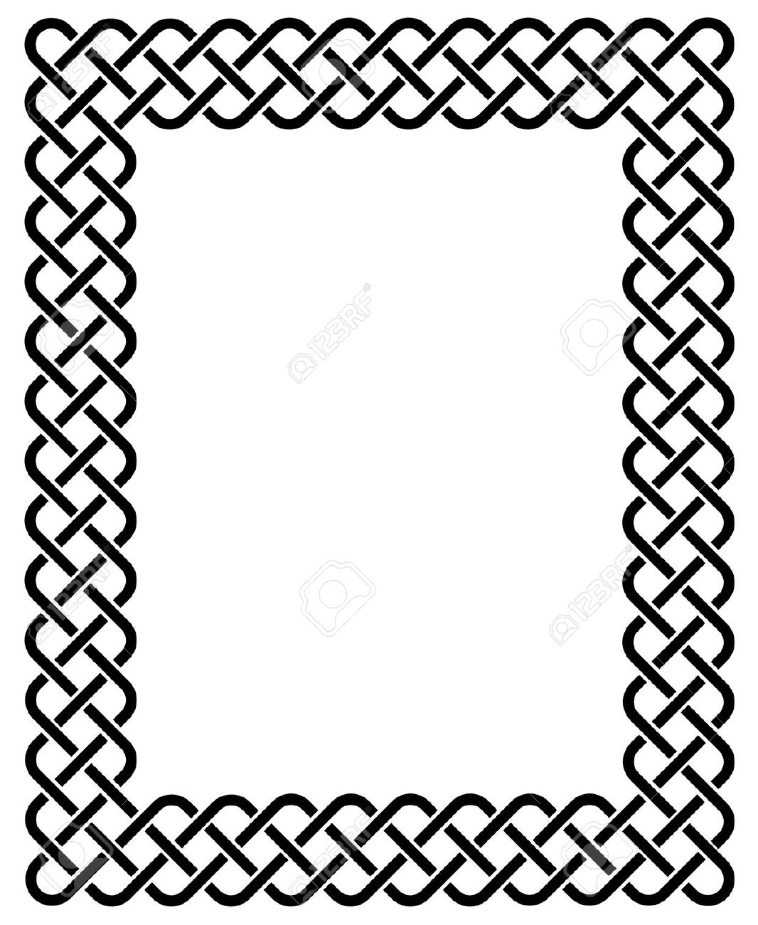 1066x1300 Celtic Knot Vector Border