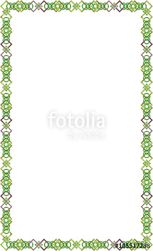 306x500 Celtic Knot Color Border Frame Vector On A White Background