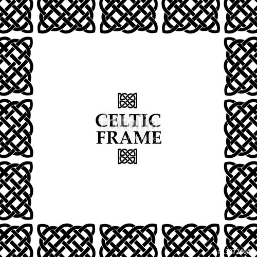 500x500 Celtic Knot Square Frame Stock Image And Royalty Free Vector