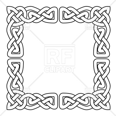 400x400 Celtic National Seamless Ornament Interlaced Tape Vector Image