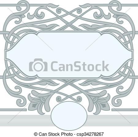 450x447 Celtic Ornament Frame Style. Vector Celtic Ornament Floral Frame. .
