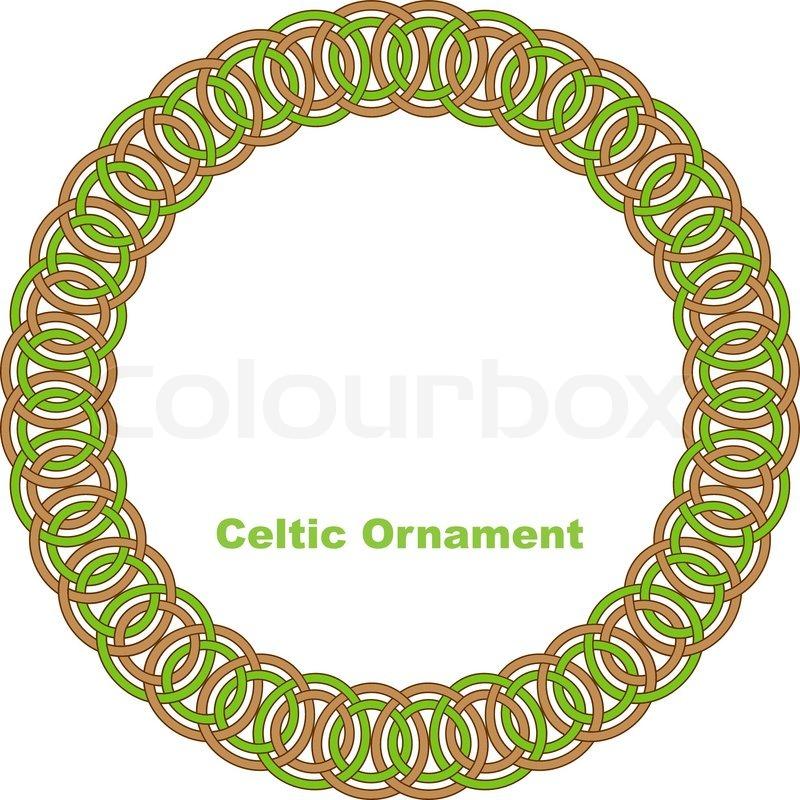 800x800 Celtic Round Frame. Vector Illustration. Stock Vector Colourbox