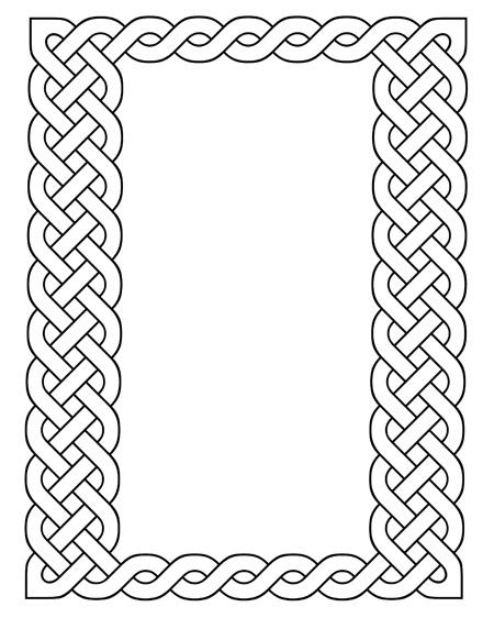 450x582 Decorative Celtic Frame Vector Illustration Stock Vector