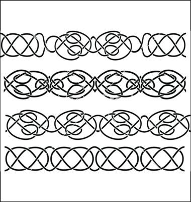 380x400 10 Celtic Knot Simple Border Vector Images