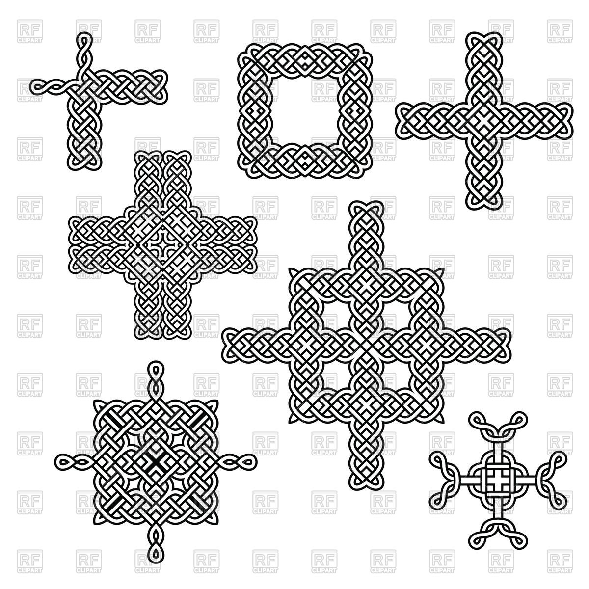 1200x1200 Celtic Knot Borders And Crosses