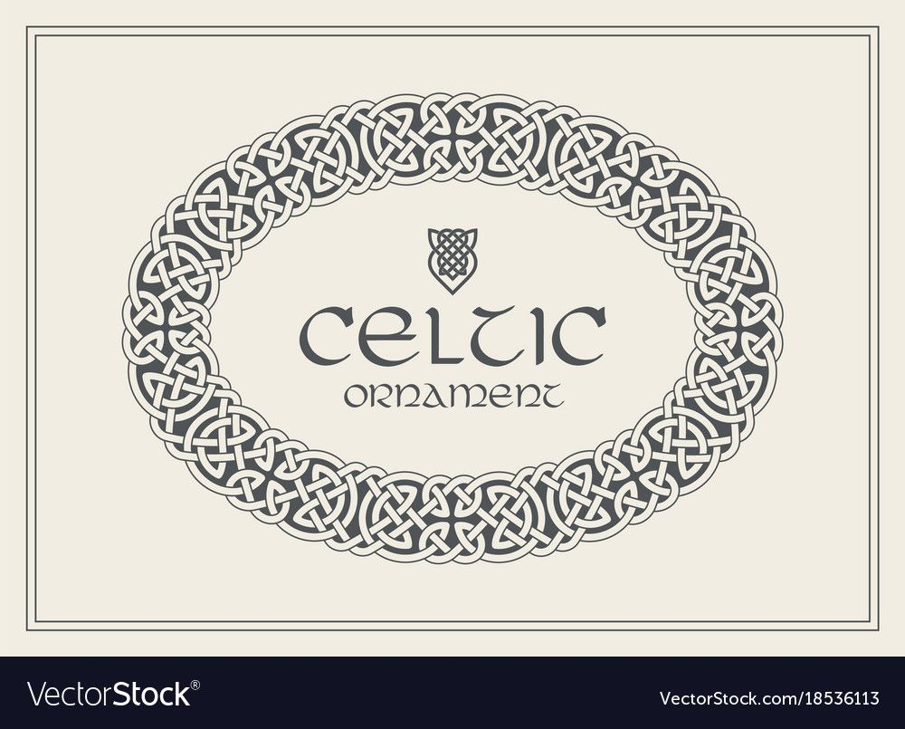 1000x805 Celtic Knot Braided Frame Border Ornament. A4 Size. Vector