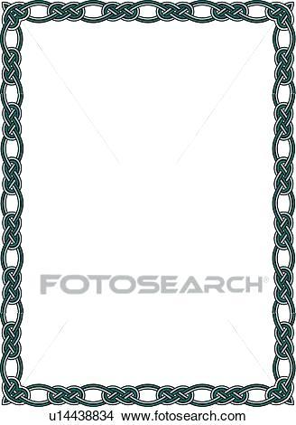 328x470 Celtic Knot Border Clip Art Knot Border Clip Art Stock Vector Knot