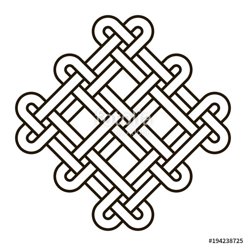 500x500 Celtic Knot Geometric Ancient Cross Tribal Vector Knotted Logo