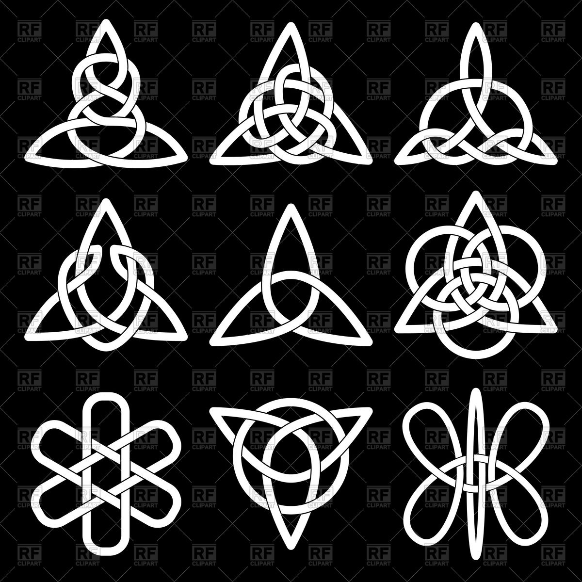 1200x1200 Celtic Knot Set Vector Image Vector Artwork Of Design Elements
