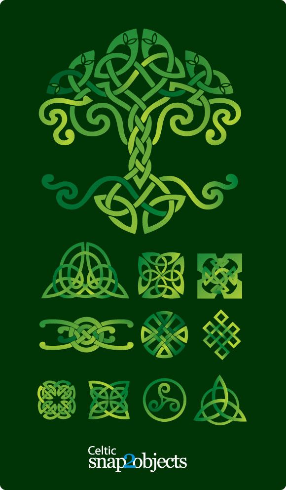 580x992 Collection Of Vector Image Of Celtic Knot Tattoo Design