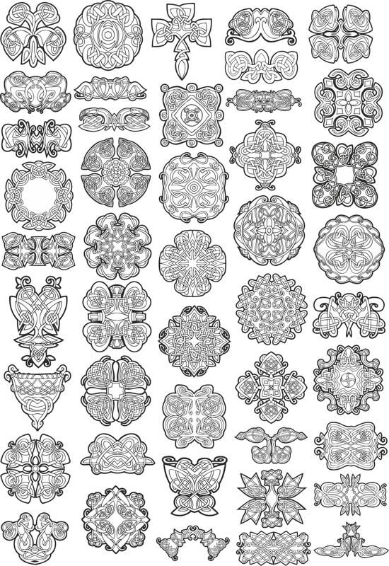 550x800 Collection Of Celtic Knot Patterns Free Vector Download In 2018