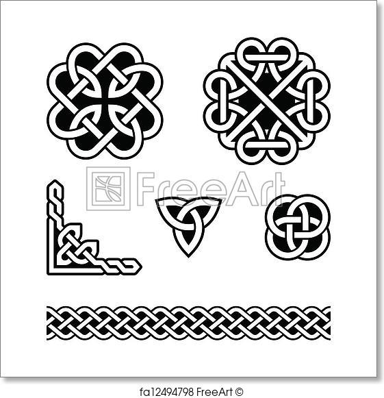 561x581 Free Art Print Of Celtic Knots Patterns