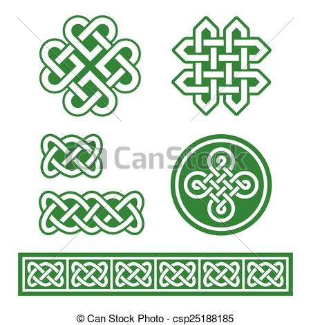 450x470 Celtic Irish Patterns And Braids Set Old Traditional Vector Celtic