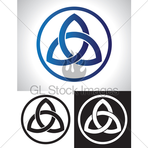 500x500 Celtic Trinity Knot Vector Gl Stock Images