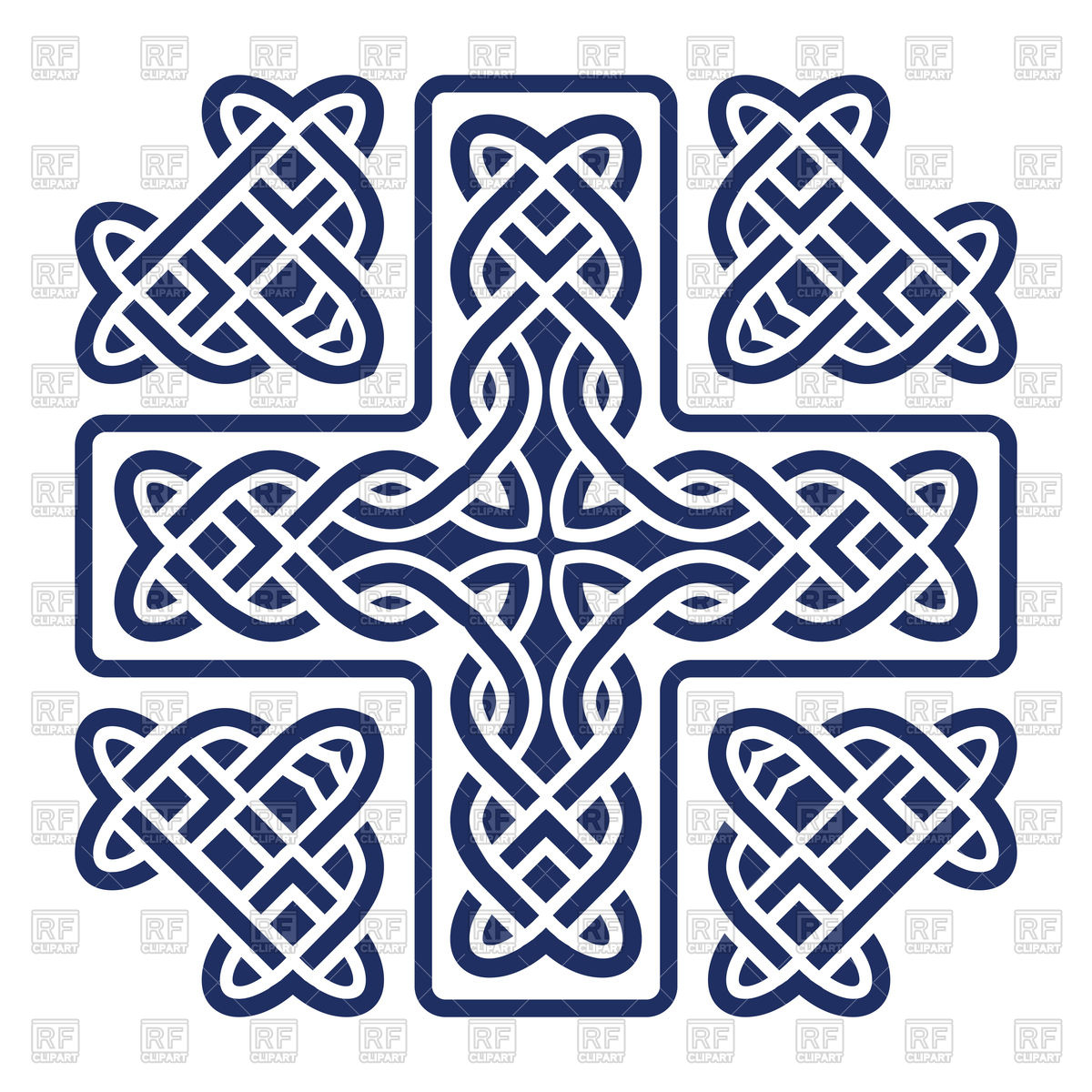 1200x1200 Celtic Knot Cross Tile Vector Image Vector Artwork Of